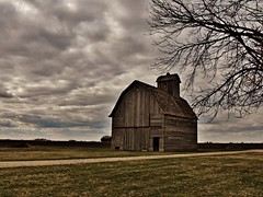aging gracefully... (BillsExplorations) Tags: old sky abandoned clouds barn rural vintage illinois decay farm forgotten aging graceful ruraldecay corncrib aginggracefully abandonedfarm barnsandfarms abandonedillinois