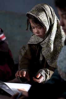 Girl in primary school 0108