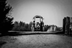 Fendt Tractor // Fendt Traktor (WODKA & CAMERAS) Tags: bw white tractor black monochrome germany deutschland grey und traktor landwirtschaft sw monochrom agriculture weiss schwarz fendt