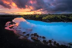 blue lagoon (Ennio Pozzetti) Tags: longexposure trip travel blue light sunset sky lake water clouds landscape blacksand volcano lava iceland sand nikon peninsula reykjanes bluelagoon blending lavafield grindavk reykjanespeninsula d810 vulcanicsand