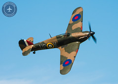 Hurricane (GeorginaGodfree) Tags: old sky plane season photography fly day photographer display aircraft aviation military air hurricane small flight may airshow planes premiere warden shuttleworth pilot warbird pilots airbase georgina roundel topside 2016 godfree roundels propflying