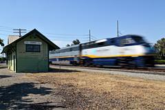 Amtrak 738 (caltrain927) Tags: california ca railroad pacific union corridor southern capitol amtrak sp depot agnew emd f59phi