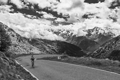 JP Biking - Passo Gavia (Mat-S) Tags: road blackandwhite bike clouds italia noiretblanc pass route cycle biking nuages italie highaltitude passo gavia