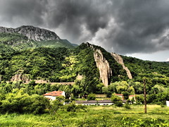 Bulgaria (jan-krux photography - thx for 1.5 Mio+ views) Tags: mountains clouds river dark landscape rocks wolken olympus cliffs berge formation bulgaria valley fluss landschaft dunkel tal omd em1 bulgarien steil rauh iskar lyutibrod