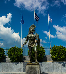 Leonidas (free3yourmind) Tags: statue greece sparta leonidas peloponnese labe molon