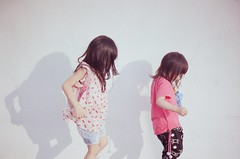 :) (Fabienne Lin) Tags: film girl naughty fun kid afternoon child 135 lovely fm playful childern nikonfilmcamera dnp100