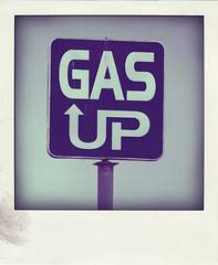 GAS UP (Leo Reynolds) Tags: polaroid fake faux phoney fakepolaroid fauxpolaroid poladroid phoneypolaroid xleol30x