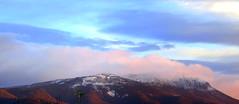 Early Morning Snow (elliott.lani) Tags: snow mountains colour beautiful clouds skies mount lani allrightsreserved mountwellington kunanyi elliottlani lanielliott