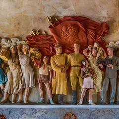 Inside the Opera House of Ulan Ude - 1x1 (swissgoldeneagle) Tags: lenin sculpture wall russia wand skulptur siberia d750 ru stalin 1x1 russland ulanude sibirien  burjatien   siberianfederaldistrict  buryatiyarepublits