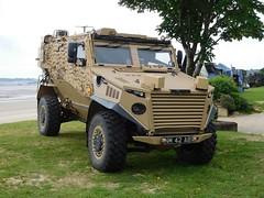 Foxhound (goweravig) Tags: uk swansea wales army vehicle british foreshore foxhound armoured swanseabay patrolvehicle lppv wnas16