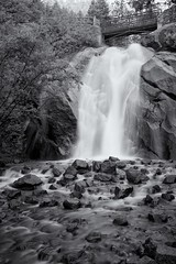 Helen Hunt Falls - Colorado Springs, CO (Christopher J May) Tags: blackandwhite bw fall nature water monochrome landscape waterfall colorado coloradosprings co helenhuntfalls cheyennecanyon nikond600 cheyennecaon nikonafnikkor28105mmf3545