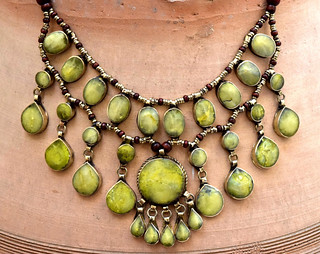 Yellow-Jade-Stone-Necklace-Cassidy-Bib-Necklace-Hippie-Kuchi-Afghan-Necklace-Boho-Jewelry-Belly-Dance-Ethnic-Necklace-Boho-Gypsy-Necklace