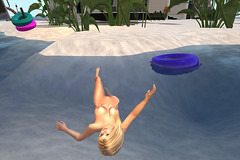 Skinny-dipping (anniedora651) Tags: sea beach water swim sand float
