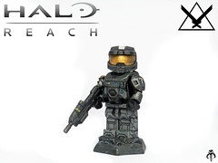 Halo Reach: Noble Six (KalSkirata.) Tags: amazing lego halo reach minifig custom armory six noble