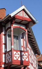 Best view (:Linda:) Tags: house germany town balcony bluesky thuringia gable halftimbered fachwerk erker baywindow historismus themar orielwindow historicism verdachung