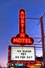 Austin Motel (OscarAmos) Tags: 35mm austin downtown neon texas hdr lightroom photomatix tonemapped detailenhancer topazadjust nikond7200