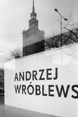 Museum of Modern Art in Warsaw (Kamil Krl) Tags: street city bw art film museum analog blackwhite fuji kodak candid exhibition warsaw kodaktrix fujifilm mm 35 warszawa varsavia fujifilmklassew andrzejwrblewski momawarsaw