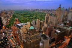 Central Park at Dusk, New York City (Landon Sinnis) Tags: city nyc sunset newyork rooftop skyline cityscape dusk centralpark manhattan wideangle tokina1224 fifthavenue columbuscircle lateafternoon centralparkwest 59thstreet trumpinternationalhotel nikoncapturenx nikond90 jumeirahessexhouse