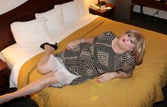 new111173-IMG_5258t (Misscherieamor) Tags: tv feminine cd motel tgirl transgender mature sissy tranny transvestite crossdress ts gurl tg travestis prettydress travesti travestie m2f onbed xdresser tgurl slipshowing
