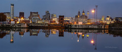 Alfreds Mirror (alundisleyimages@gmail.com) Tags: city panorama water weather architecture liverpool docks buildings reflections river wirral merseyside princealfreddock