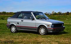 1988 Yugo convertible (scott597) Tags: show ohio car yellow silver 1988 convertible orphan springs jersey dairy yugo youngs 2014