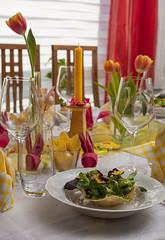 Easter dinner (rabindahouse) Tags: bunny robin easter abend essen fotografie bokeh blumen ostern salat hase mittag behr osterhase rab 2015 vorspeise süs indahouse