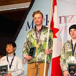 Liam Applegath (1st); Nathan Romanin (2nd); Shunosuke Takada (3rd) - Men's U14 slalom PHOTO CREDIT: Coast Mountain Photography www.coastphotostore.com/Events/Whistler-Cup-2015