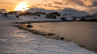 ullsfjord sunset