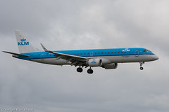 KLM Cityhopper E-190 PH-EZL Landing at Newcastle (Mark_Aviation) Tags: new newcastle airplane airport aircraft aviation landing emirates international airbus boeing arrival klm std 777 easyjet 737 a320 embraer arriving ncl jet2 cityhopper 777300 737300 777300er e190 egnt a320214 77731