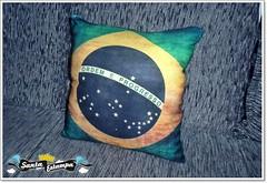 Almofada Brasil - Brasil Pillow (bruna.cosini) Tags: home brasil bag skull tissue pillow owl coruja patch decor caveira almofada tecido pou