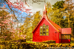Dalswinton Church (Kevin Findlater Photography) Tags: pink red church landscape scotland blossom religon foliage dumfriesshire churchofscotland dalswinton