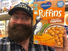 Puffins Cereal, Pumpkin Spice, Pics by Mike Mozart of TheToyChannel and JeepersMedia on YouTube #Puffins #Cereal #Pumpkin #Spice (JeepersMedia) Tags: pumpkin spice cereal puffins