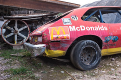 Miracle of American Museum (flippers) Tags: old usa ford museum racecar america vintage weird us junk montana unitedstates retro mcdonalds american scrap banger oldfashioned polson miracleofamericanmuseum