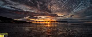 A stunning sunset at Saltburn Beach