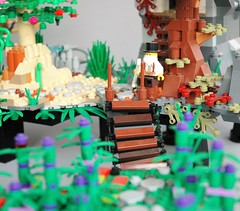 Aetheria full world (2) (adde51) Tags: island lego floating fantasy airship steampunk moc aetheria swebrick adde51