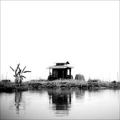 Little House (*Kicki*) Tags: house lake square 50mm burma myanmar inlelake inle shanstate