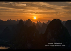 Spectacular mountain view from Laozhai Shan mountain, Xingping, Guangxi Autonomous Region, China (jitenshaman) Tags: china travel sunset sun mountains tourism nature river landscape asian liriver li scenery asia guilin yangshuo hill sightseeing chinese aerial hills limestone vista destination peaks overlook viewpoint karst birdseye guangxi xingping worldlocations laozhaishan laozhaihan birdseyepavillion