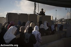 Qalandiya checkpoint, first Friday of Ramadan, West Bank, 10.6.2016 (Activestills) Tags: women palestine westbank ramadan occupation borderpolice qalandiyacheckpoint freedomofmovement orenziv topimages