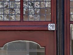 Week 20 (d_t_vos) Tags: door abstract texture window netherlands sign architecture calendar symbol outdoor character text number week shield 20 weeks address windowframe twenty doorframe leeuwarden housenumber 2016 streetnumber voorstreek dickvos weeknumber dtvos numericcharacter weeknumberproject