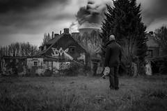 Doel_Meltdown (dannyvdgriend) Tags: white black mask belgium gasmask concept conceptual drama meltdown core doel doelbelgie