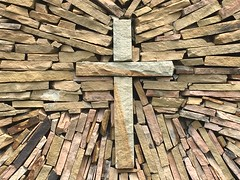 ...The Solid Rock... (cliffordswoape) Tags: rock christ cross tennessee masonry solid istand springcity