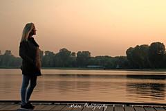 Kralingse Plas (Mone-Photography) Tags: sunset woman sun lake holland water netherlands girl beautiful dutch zonsondergang model rotterdam plas kralingseplas roffa