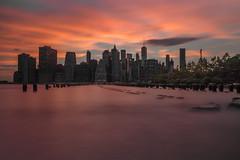 Manhattan Skyline Brooklyn (youcefbenbrahim) Tags: nyc newyorkcity new york sunset slowshutter manhattan dumbo brooklyn