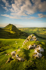 A Green and Pleasant Land (Dave Fieldhouse Photography) Tags: morning summer england sky grass clouds walking landscape outdoors countryside nationalpark rocks shadows view derbyshire peakdistrict hill chromehill hikings derbyshirelife