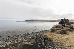 Lunch (JoshJackson84) Tags: sea me lunch coast iceland rocks europe wideangle fjord fjords westfjords selfie sigma1020mm canon60d