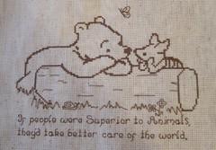 Pooh and Piglet (kwgronau) Tags: pooh tao crossstitch blackwork