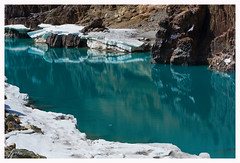 Enthralling blues of the Zanskar River - India!! (ChetanRana) Tags: india snow blues rivers zanskar kashmir jk ladakh blueriver jammukashmir incredibleindia brightday riversofindia