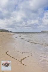 Heart Shore (Abbi P) Tags: heart padstow beach waves sea sand canon canon60d seashore
