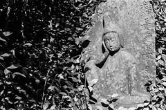 (laura_rivera) Tags: film statue japanesegarden minolta kodak tmax 55mm 400 vivitar 202 fortworth srt 55mmf28 laurarivera boanticgarden