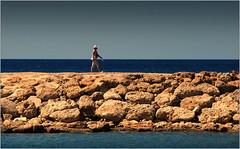 Walking  minimalism in Side (piontrhouseselski) Tags: blue sea summer turkey coast stones walk